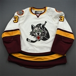 Denny, Chad<br>White<br>Chicago Wolves 2008-09<br>#3 Size: 56