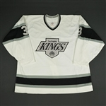 Laidlaw, Tom * <br>White<br>Los Angeles Kings 1989-90<br>#3 Size: 54