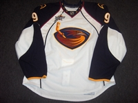 Christensen, Erik<br>White Set 3 w/All-Star Patch (RBK 2.0)<br>Atlanta Thrashers 2007-08<br>#9 Size: 58