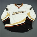 Ryan, Bobby * <br>White Set 2<br>Anaheim Ducks 2010-11<br>#9 Size: 58