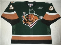 Carpentier, Hugo<br>Green Set 1<br>Utah Grizzlies 2010-11<br>#49 Size: 56