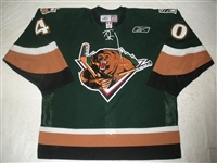Crowder, Tim<br>Green Set 1<br>Utah Grizzlies 2010-11<br>#40 Size: 56