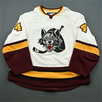 Taylor, Justin<br>White<br>Chicago Wolves 2008-09<br>#4 Size: 58