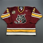 Dineen, Gord<br>Maroon<br>Chicago Wolves 1999-00<br>#2 Size: 56