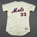 Harvey, Matt * <br>White w/All-Star Game Patch, Worn April 3, 2013, Harveys First Win Ever at Citi Field<br>New York Mets 2013<br>#33 Size: 48 + 2