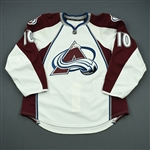 Cumiskey, Kyle<br>White Set 2 - Game-Issued (GI)<br>Colorado Avalanche 2011-12<br>#10 Size: 54