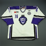 Gordon, Ben<br>White Set 1 w/ 10th Anniversary Patch<br>Reading Royals 2010-11<br>#76 Size: 54