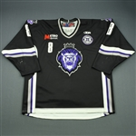 Goulet, Alain<br>Black Set 1 w/ 10th Anniversary Patch<br>Reading Royals 2010-11<br>#8 Size: 56