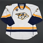 Bitetto, Anthony<br>White Set 1 w/ All-Star Game Patch<br>Nashville Predators 2015-16<br>#2 Size: 58