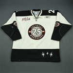 Boe, Channing<br>White Kelly Cup Finals Game-Issued<br>Las Vegas Wranglers 2011-12<br>#25 Size: 56