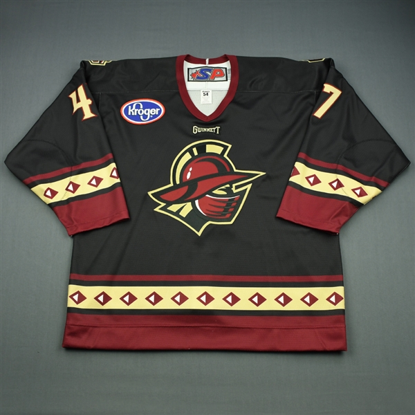 Paquette, Danick<br>Black Set 1<br>Gwinnett Gladiators 2010-11<br>#47 Size: 54