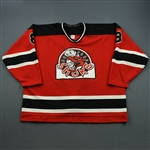 Barton, Brad (NOBR) * <br>Red, NOBR (Name on Back removed)<br>BrantfordSmoke 1994-95<br>#8 Size: 56