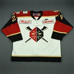 Rogers, Doug<br>White Set 1<br>Wheeling Nailers 2010-11<br>#24 Size: 56
