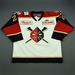 Schnell, Ryan<br>White Set 1<br>Wheeling Nailers 2010-11<br>#28 Size: 56