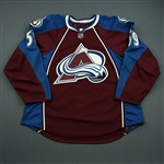 Bournival, Michael<br>Burgundy Set 1 - Game-Issued (GI)<br>Colorado Avalanche 2010-11<br>#59 Size: 56
