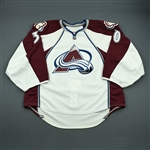 Cann, Trevor<br>White Set 1 - Preseason Only<br>Colorado Avalanche 2010-11<br>#30 Size: 58G