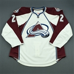 Chouinard, Joel<br>White Set 1 - Game-Issued (GI)<br>Colorado Avalanche 2010-11<br>#2 Size: 56
