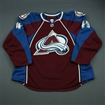 Ford, Matthew<br>Burgundy Set 1 - Game-Issued (GI)<br>Colorado Avalanche 2010-11<br>#49 Size: 58