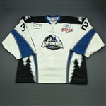 Beauchemin, Rejean<br>White Kelly Cup Finals - Game 1 & 2<br>Idaho Steelheads 2009-10<br>#32 Size: 58G