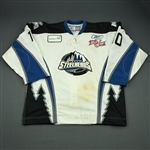 Derlago, Mark<br>White Kelly Cup Finals - Game 1 & 2<br>Idaho Steelheads 2009-10<br>#10 Size:56