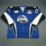 Derlago, Mark<br>Blue Kelly Cup Finals - Game 3 & 4<br>Idaho Steelheads 2009-10<br>#10 Size:56