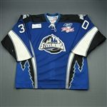 DeVergilio, Kevin<br>Blue Kelly Cup Finals - Game 3 & 4<br>Idaho Steelheads 2009-10<br>#30 Size:56