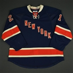 Stepan, Derek * <br>Blue Heritage - Photo-Matched<br>New York Rangers 2013-14<br>#21 Size: 56