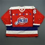 Sjogren, Thomas * <br>Red<br>Baltimore Skipjacks 1990-91<br>#16 Size: 54