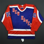 Gagner, Dave * <br>Blue<br>New Haven Night Hawks 1984-85<br>#10 Size: XL