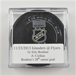 Boulton, Eric * <br>November 23, 2013 vs the Philadelphia Flyers (Flyers Logo)<br>New York Islanders 2013-14
