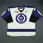 Irwin, Brayden<br>White Set 1 (Game-Issued)<br>Reading Royals 2011-12<br>#14 Size: 58