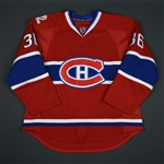 DAgostini, Matt * <br>Red w/100th Anniversary Centennial patch - Photo-Matched<br>Montreal Canadiens 2009-10<br>#36 Size: 58