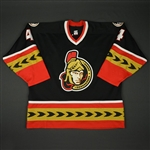 Phillips, Chris * <br>Black - Alternate<br>Ottawa Senators 2000-02<br>#4 Size: 58