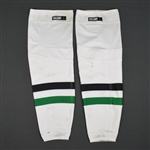 Benn, Jamie<br>White Socks<br>Dallas Stars 2015-16<br>#14 Size: Large