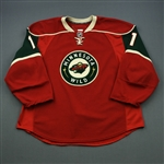 Nolan, Owen * <br>Red Set 2<br>Minnesota Wild 2009-10<br>#11 Size: 58