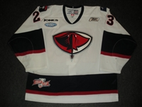 Fornataro, Matt<br>White Set 1 w/Kelly Cup Patch<br>South Carolina Stingrays 2009-10<br>#23 Size: 56