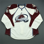 Beaupre, Gabriel<br>White Set 1 - Game-Issued (GI)<br>Colorado Avalanche 2012-13<br>#47 Size: 58