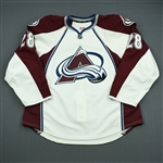 Carey, Paul<br>White Set 1 - Game-Issued (GI)<br>Colorado Avalanche 2012-13<br>#28 Size: 56