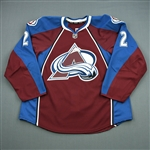 Chouinard, Joel<br>Burgundy Set 1 - Game-Issued (GI)<br>Colorado Avalanche 2012-13<br>#2 Size: 56