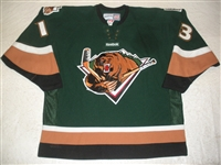 Fadden, Mitch<br>Green Set 1 (A removed)<br>Utah Grizzlies 2011-12<br>#13 Size: 56