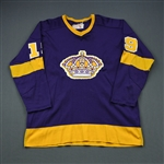 Goring, Butch * <br>Purple (name has been added to jersey)<br>Los Angeles Kings 1974-76<br>#19 Size: 46
