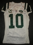 Holmes, Santonio<br>White, worn Dec. 4, 2011 at Washington<br>New York Jets 2011<br>#10 Size: 42