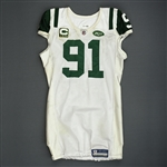 Pouha, Sione<br>White, worn Dec. 4, 2011 at Washington<br>New York Jets 2011<br>#91 Size: 46