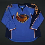 Kubina, Pavel * <br>Blue Set 3 - Photo-Matched<br>Atlanta Thrashers 2009-10<br>#77 Size: 58+