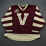 Higgins, Chris * <br>Maroon - Vancouver Millionaires - Heritage Classic Period 1<br>Vancouver Canucks 2013-14<br>#20 Size: 58