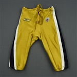 Scott, Bart<br>Gold Titans Throwbacks, worn Sept. 18 vs. Jacksonville<br>New York Jets 2011<br>#57 Size: 36