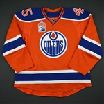 Beck, Taylor<br>Orange Set 1 w/ Rogers Place Inaugural Season Patch<br>Edmonton Oilers 2016-17<br>#45 Size: 58