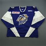 Lenarduzzi, Mike * <br>Blue, ECHL 2000 The New Millennium Patch<br>Baton Rouge Kingfish 1999-00<br>#1 Size: 58G