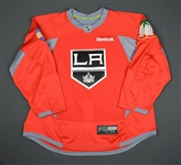 Ehrhoff, Christian<br>Red, Holiday Warm-up, December 22, 2015, Autographed<br>Los Angeles Kings 2015-16<br>#10 Size: 56