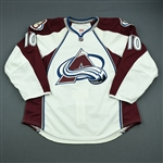Cumiskey, Kyle<br>White Set 3 - Game-Issued (GI)<br>Colorado Avalanche 2010-11<br>#10 Size: 54